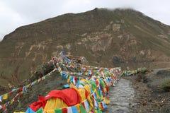 Святое озеро на Тибете Стоковые Изображения RF