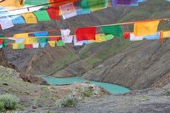 Святое озеро на Тибете Стоковые Изображения