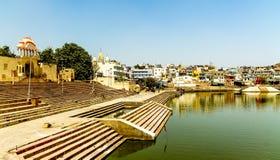Святое озеро Pushkar стоковое фото rf