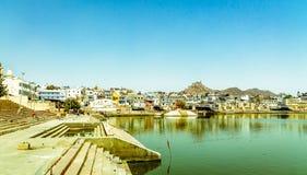 Святое озеро Pushkar стоковые изображения rf
