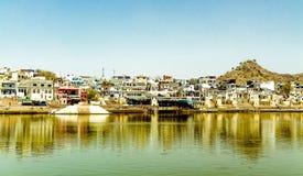 Святое озеро Pushkar стоковая фотография