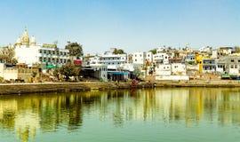 Святое озеро Pushkar стоковое изображение rf