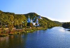 Святое предположение Svyatogorsk Lavra Стоковые Изображения RF