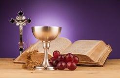 Святое причастие Chrystian стоковые фотографии rf