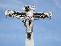 Святое распятие на Голгофе Стоковое фото RF