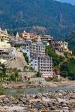 Святой Ганг в Rishikesh, Индии Стоковые Изображения RF
