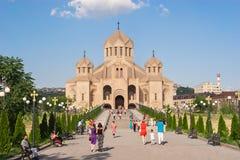 Святой Грегори собор иллюминатора Стоковая Фотография