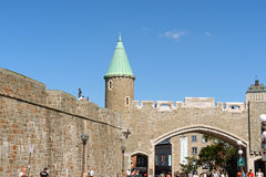 Святой Джин Porte (строб города) в Квебеке (город) Стоковая Фотография