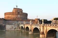 святой замока s моста ангела стоковые фотографии rf
