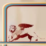 святой метки льва ретро Иллюстрация штока