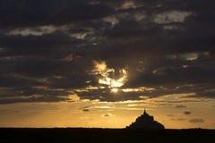 Святой Мишель держателя в Нормандии Франции Стоковое Изображение