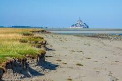 Святой Мишель - Нормандия - Франция Mont стоковые изображения rf