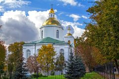 Святой монастырь явления божества в Полоцк стоковые фото
