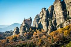 Святой монастырь Rousanou/St Барбары в Meteora, Греции Стоковая Фотография RF