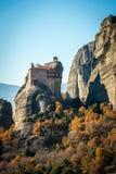 Святой монастырь Rousanou/St Барбары в Meteora, Греции Стоковое Фото
