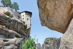 Святой монастырь Varlaam на утесе, Meteora, Греции Стоковое Изображение RF