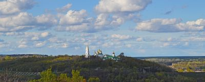 Святой перекрестный монастырь возвеличивания в Полтаве, Украине Стоковые Изображения RF