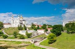 Святой собор предположения предположения и монастыря святого духа Витебск, Беларусь Стоковые Изображения