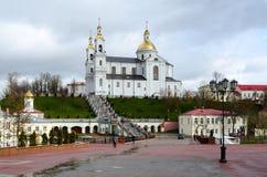 Святой собор Dormition и монастырь святого духа женский, v Стоковая Фотография RF