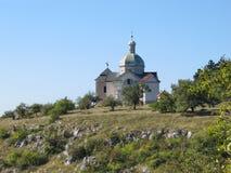 Святой холм около Mikulov в Моравии Стоковое фото RF