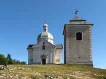 Святой холм около Mikulov, южная Моравия Стоковая Фотография