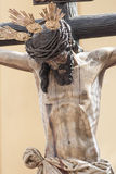 Святой Христос здоровья братства CarreterÃa, пасхи в Севилье Стоковые Фото