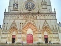 Святой Джин de городок Лиона собора, Лиона старый, Франция Стоковая Фотография