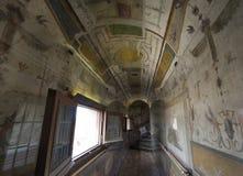 Святой Angelo замока Деталь потолка Внутренний взгляд rome Ita Стоковые Фото