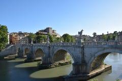 Святой angelo Рима моста Стоковое Изображение RF