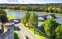 Святой-Benezet Pont в Авиньоне Стоковая Фотография RF