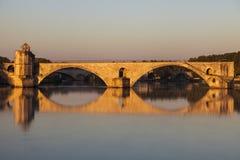 Святой-Benezet Pont на Роне в Авиньоне Стоковое фото RF