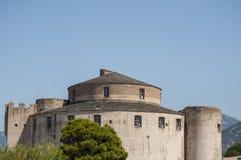 Святой Florent, Сан Fiorenzo, горизонт, цитадель, haute-Corse, Корсика, Франция, остров, Европа Стоковые Фото