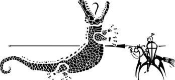 святой george дракона иллюстрация штока
