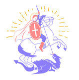Святой Georgi значка Стоковые Фотографии RF