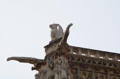Святой Jacques башни - французская скульптура - Париж, Франция Стоковое Фото