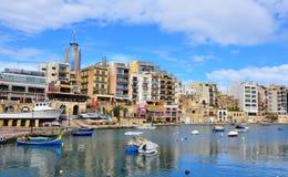 Святой Julians, Мальта стоковое фото