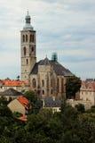святой kutna jacob hora церков чехословакское Стоковое фото RF