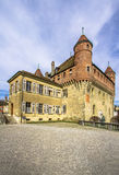 Святой-Maire замка в Лозанне, Швейцарии Стоковое Изображение RF