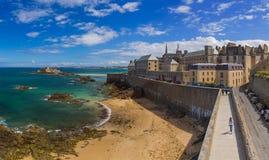 Святой-Malo - Бретань Франция Стоковая Фотография RF