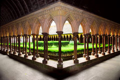 святой mont michel gar монастыря Стоковое Изображение