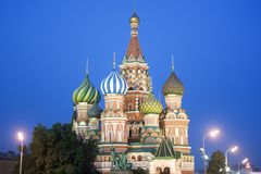 святой moscow s собора базилика Стоковое Фото