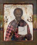 святой nicolas иконы Стоковая Фотография