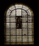 святой paris churc стеклянное запятнало окно sulpice Стоковое Изображение RF