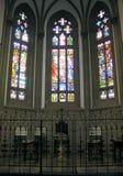 святой peter s стекла собора stainded окно стоковое изображение rf