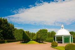 святой petersburg Дворец ландшафта Peterhof Стоковые Фото