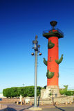 святой petersburg колонки rostral Стоковое Изображение