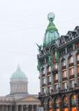 святой petersburg России моста okhtinsky Стоковое фото RF