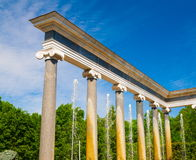святой petersburg Статуи и фонтаны Peterhof Стоковое Фото