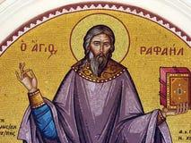 святой raphael мозаики стоковое фото