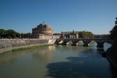 святой rome замока ангела Стоковые Фото